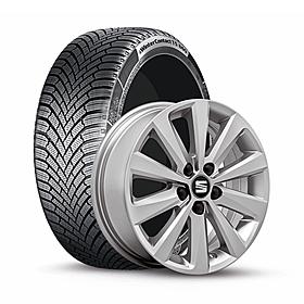 SEAT 17 inch lichtmetalen winterset Xcellence, Continental