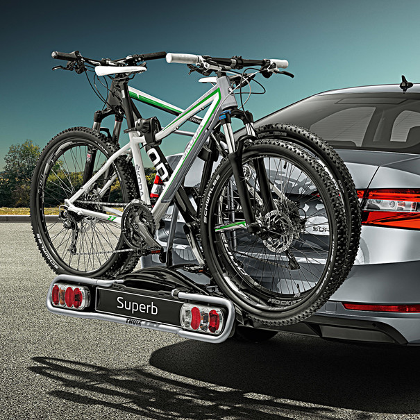 SKODA Fietsendrager voor op trekhaak, 2 fietsen