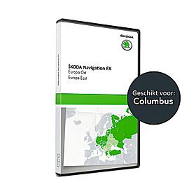 SKODA Navigatie update, Oost-Europa (V17)