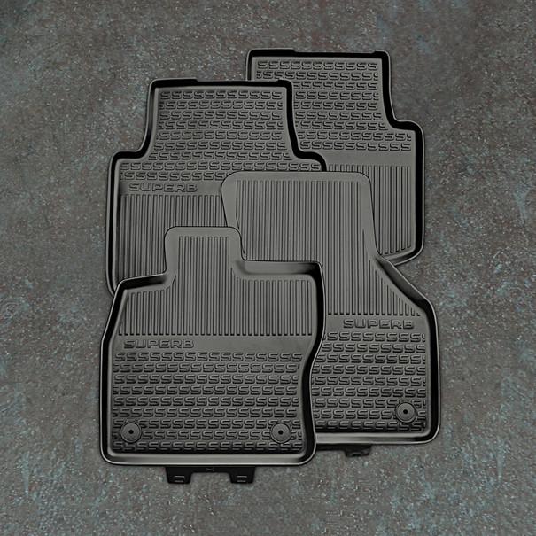 SKODA Rubberen mattenset Superb, achter