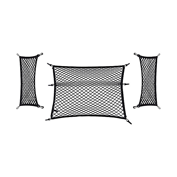 SKODA Bagagenetten zwart 3-delig, Octavia Combi (CNG, PHEV)