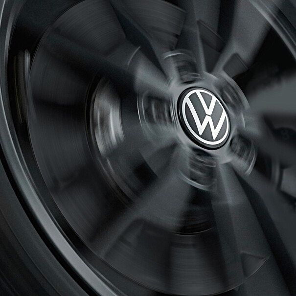Volkswagen Dynamische naafkap met stilstaand logo (nieuw logo)