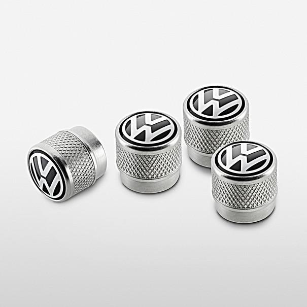 Volkswagen Ventieldoppen, aluminium ventielen