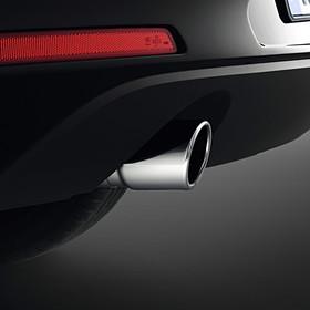 Volkswagen Chromen uitlaatsierstuk, enkel