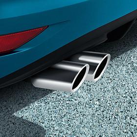 Volkswagen Chromen uitlaatsierstuk, dubbel