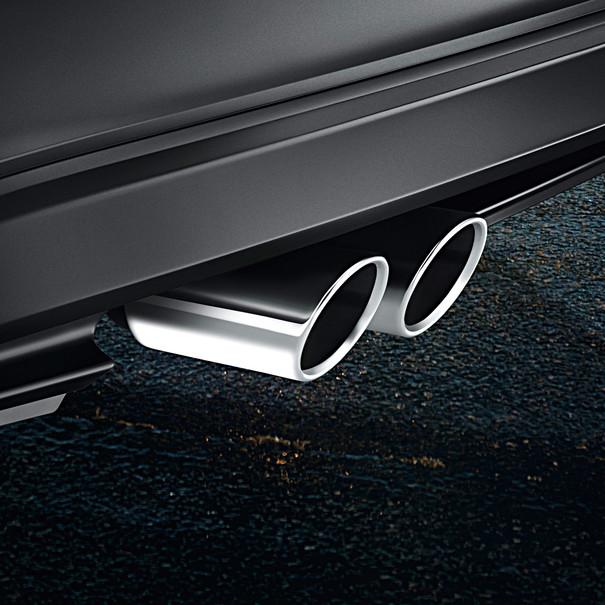 Volkswagen Chromen uitlaatsierstuk Passat, dubbel