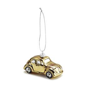 Volkswagen Beetle kerstbal, goud