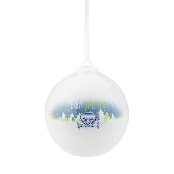 Volkswagen Kerstbal, blauw