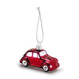 Volkswagen Beetle kerstbal, rood