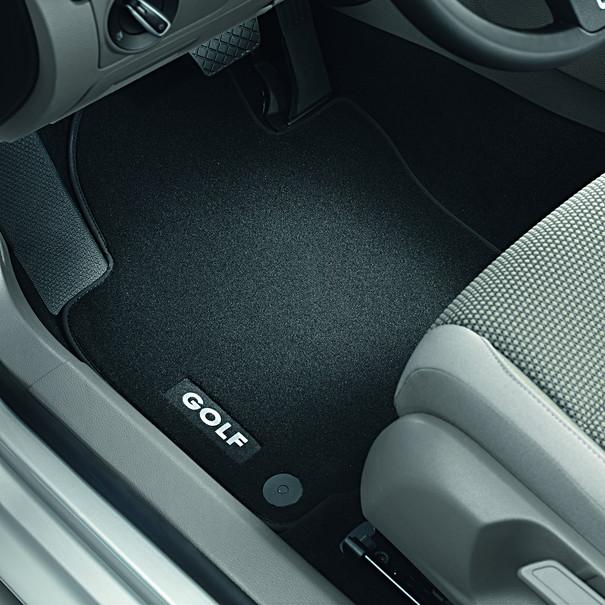 Volkswagen Velours mattenset Golf (5), met opschrift, voor