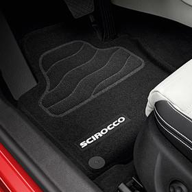 Volkswagen Optimat mattenset Scirocco, met opschrift, voor + achter