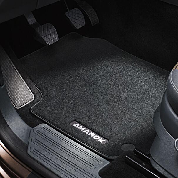 Volkswagen Velours mattenset Amarok, voor