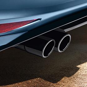 Volkswagen Zwart chromen uitlaatsierstuk Passat / Tiguan, dubbel