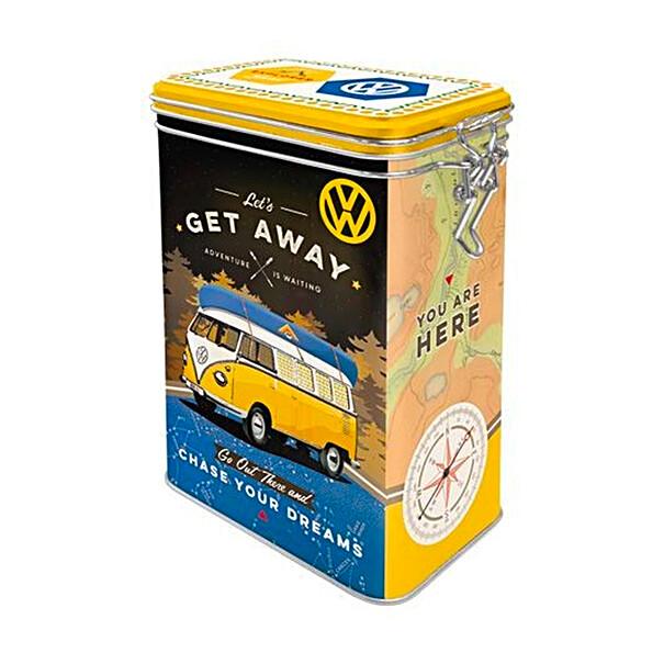 Volkswagen Koekblik Let's Get Away staand blik