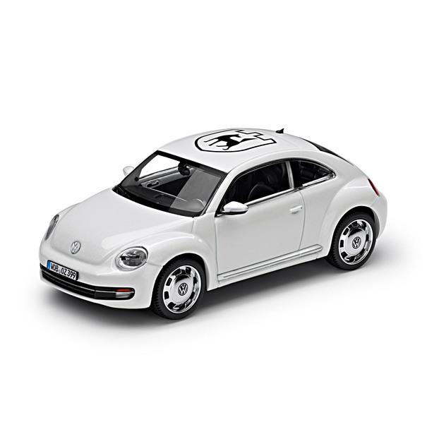 Volkswagen Beetle, 1:43, Candy Wit(mit Wappen-Folierung)