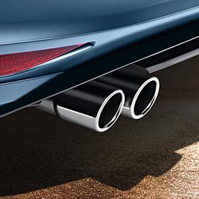 Volkswagen Chromen uitlaatsierstuk (dubbel)
