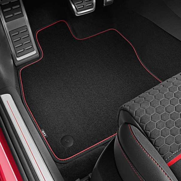 Volkswagen Velours mattenset Golf GTI, drukknop bevestiging, voor en achter