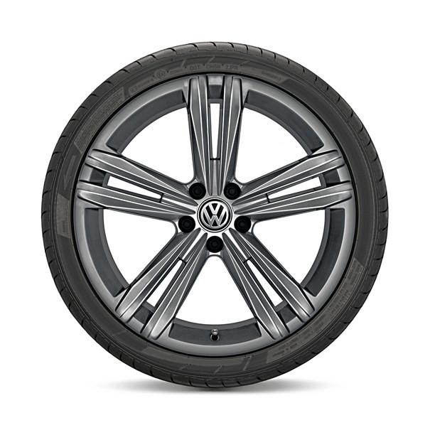 Volkswagen 18 inch lichtmetalen zomerset, Sebring Galvano grijs (verwacht vanaf Q2-2018)