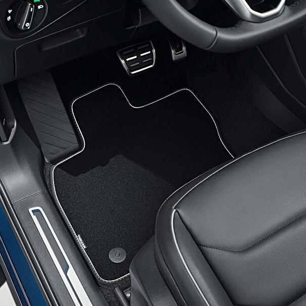 Volkswagen Velours mattenset Tiguan, met opschrift, voor + achter