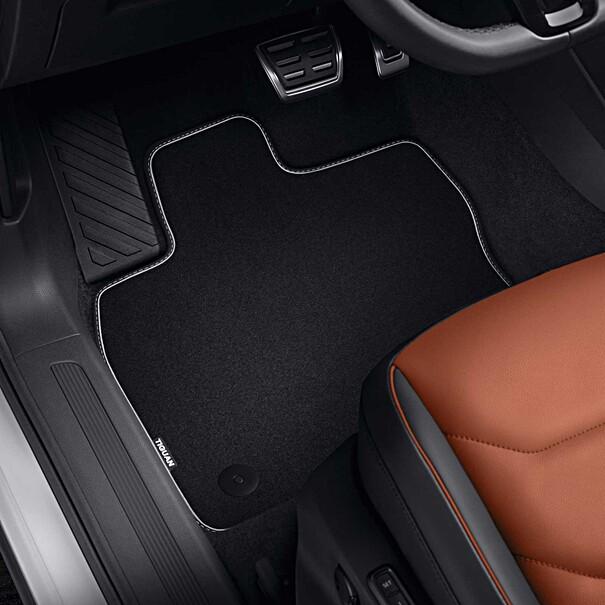 Volkswagen Velours mattenset Tiguan Allspace, met opschrift, voor + achter