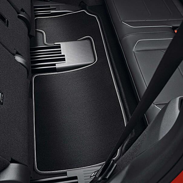 Volkswagen Velours mattenset Tiguan Allspace, met opschrift, derde zitrij