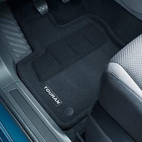 Volkswagen Optimat mattenset Touran, met opschrift, voor + achter