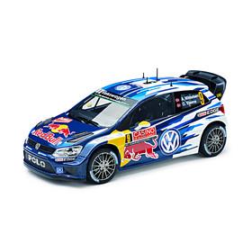 Volkswagen Polo WRC 2015 modelauto, Mikkelsen/Floene, 1:18