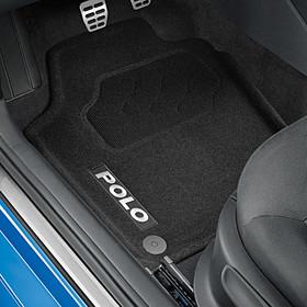Volkswagen Optimat mattenset Polo, met opschrift, voor + achter