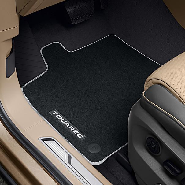 Volkswagen Velours mattenset Touareg, met opschrift, voor + achter