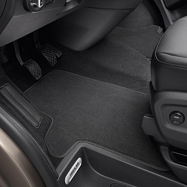 Volkswagen Velours mattenset Transporter, drukknop, voor