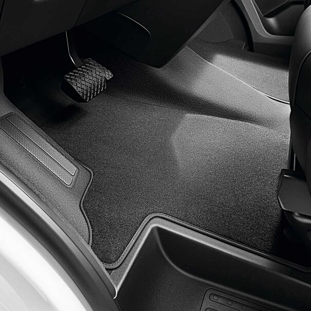 Volkswagen Velours mattenset Transporter 6.1, drukknop, voor