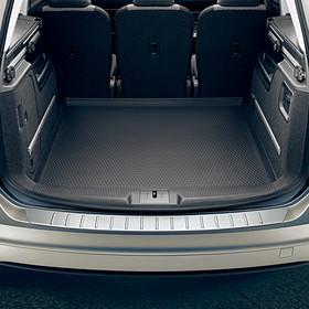 Volkswagen RVS look achterbumper beschermlijst, Sharan
