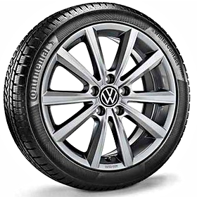 Volkswagen 17 inch lichtmetalen winterset Merano, Adamantium Dark