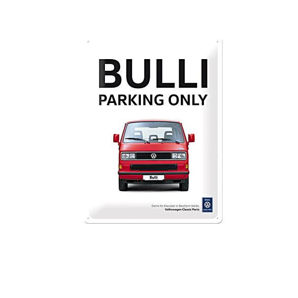 Volkswagen Emaille bord, Bulli parking only