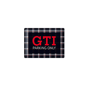 Volkswagen Emaille bord, GTI parking only