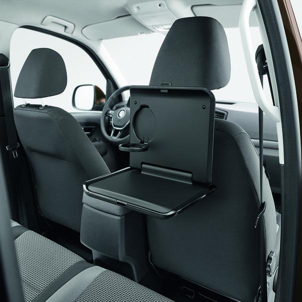 Volkswagen Bedrijfswagens Opklapbare tafel met bekerhouder