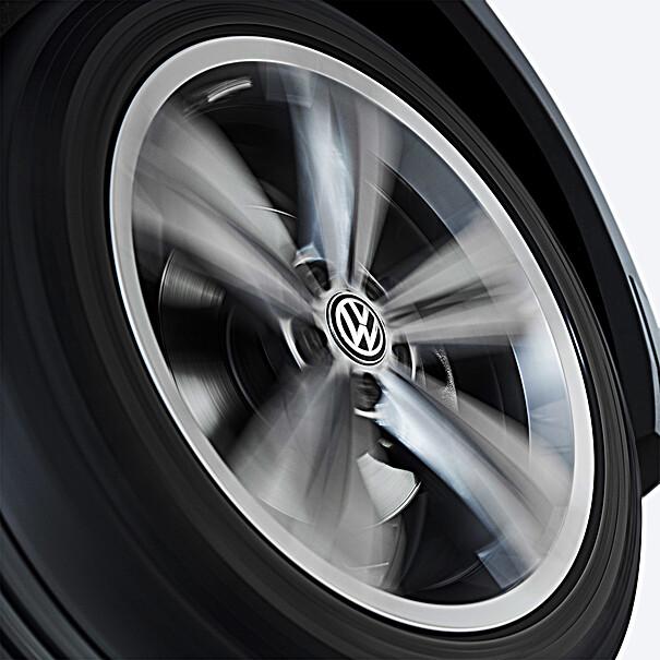 Volkswagen Bedrijfswagens Dynamische naafkap met stilstaand logo