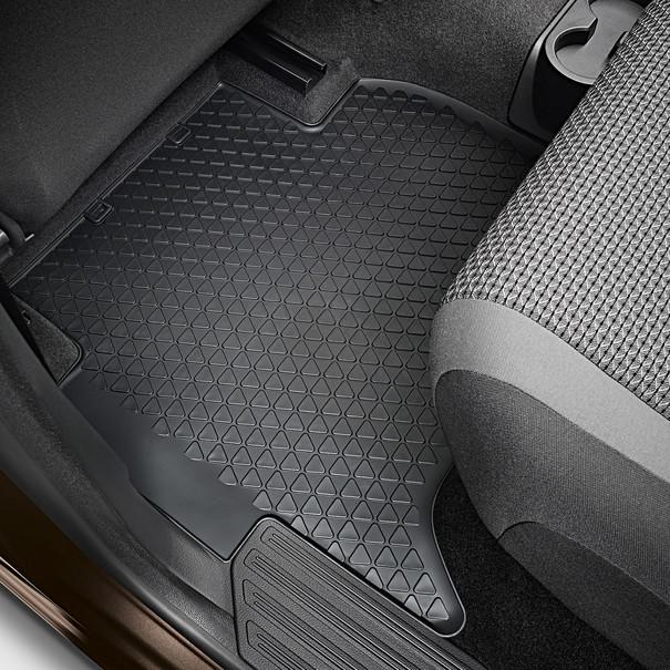 Volkswagen Bedrijfswagens All-weather mattenset Amarok, achterzijde