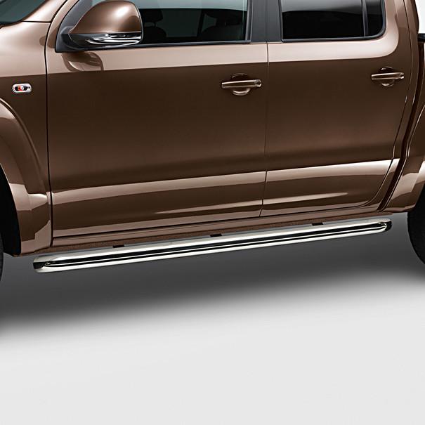 Volkswagen Bedrijfswagens RVS sidebars Amarok, gepolijst