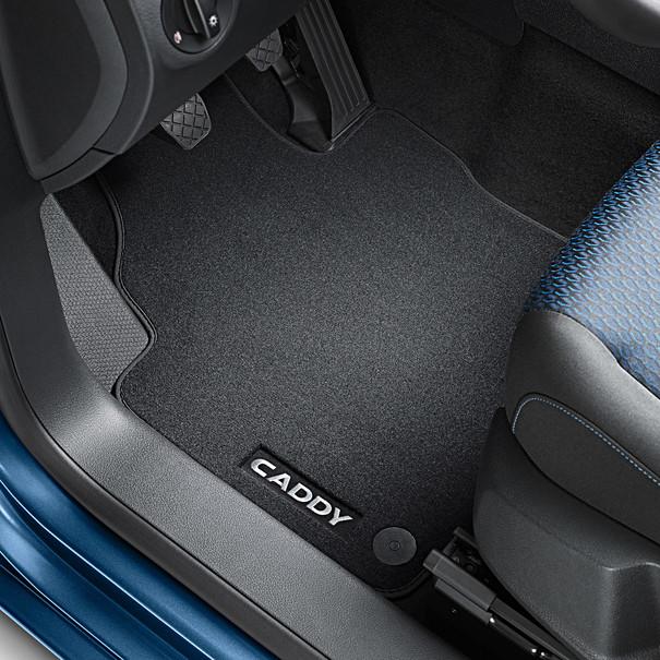 Volkswagen Bedrijfswagens Velours mattenset Caddy Combi, voor + achter