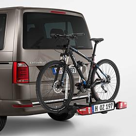 Volkswagen Bedrijfswagens Fietsendrager (inklapbaar) voor op trekhaak, 2 fietsen