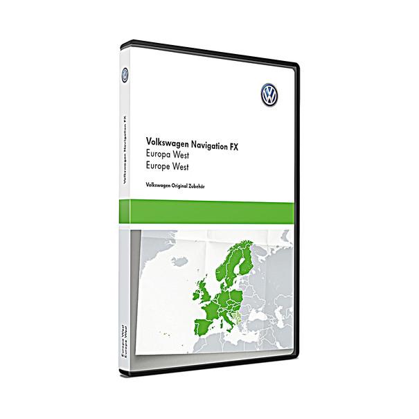 Volkswagen Bedrijfswagens Navigatie SD kaart FX-platform, West-Europa V10