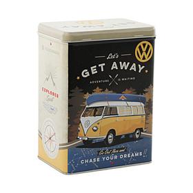 Volkswagen Bedrijfswagens Koekblik Let's Get Aeay staand blik