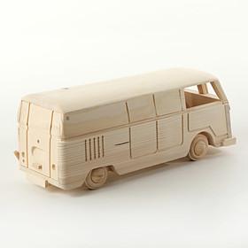 Volkswagen Bedrijfswagens Model hout T1 bus, ruimte voor fles wijn