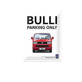 Volkswagen Bedrijfswagens Metalen bord, Bulli parking only