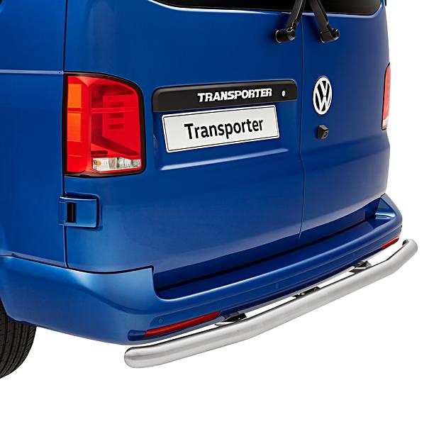 Volkswagen Bedrijfswagens Rearbar T5 / T6 / T6.1 RVS Mat (recht - zonder trekhaak), Alcochem